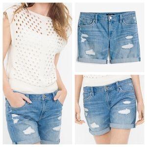WHBM Girlfriend Jean Shorts Size 8